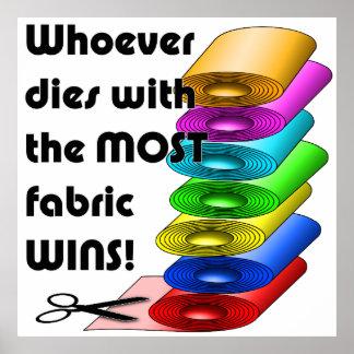 ¡Quienquiera muere con la mayoría de los triunfos Póster