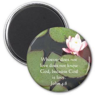 Quienquiera no ama no conoce a dios. 4:8 de Juan Imán Redondo 5 Cm