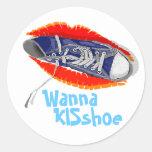 Quiera a KISshoe Pegatinas Redondas