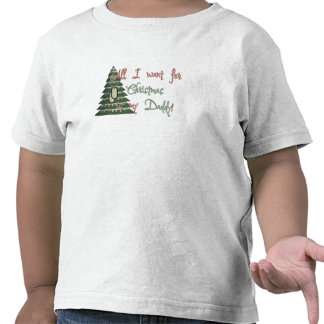 Quiera a mi papá para el navidad camiseta