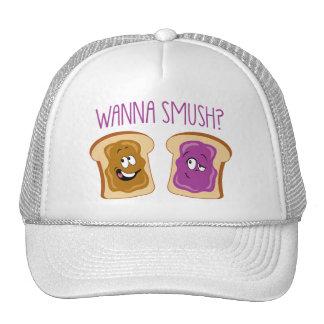 ¿Quiera a Smush? Gorras De Camionero