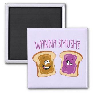 ¿Quiera a Smush? Imán Cuadrado