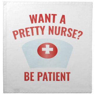 ¿Quiera a una enfermera bonita? Servilletas De Papel
