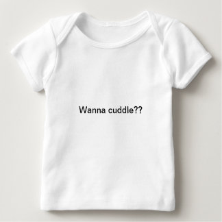 ¿Quiera abrazar?? Playera De Bebé