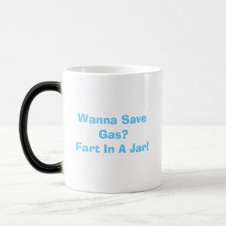¿Quiera ahorrar el gas? ¡Fart en un tarro! Taza se