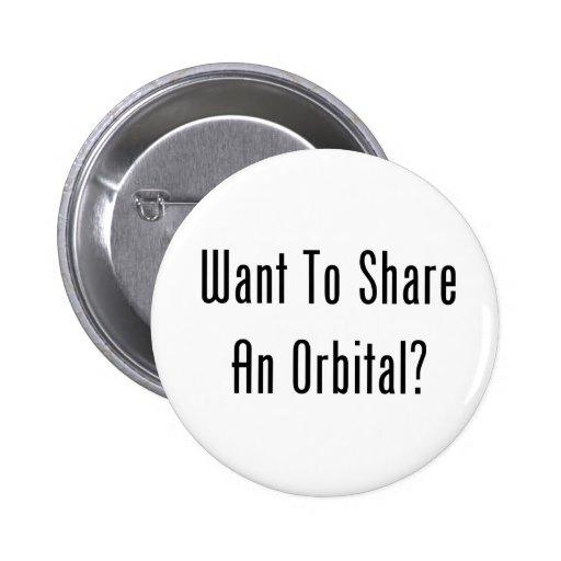 ¿Quiera compartir un orbitario? Pin Redondo 5 Cm