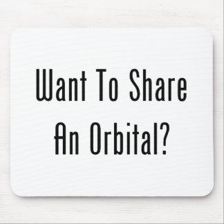 ¿Quiera compartir un orbitario Alfombrillas De Ratones