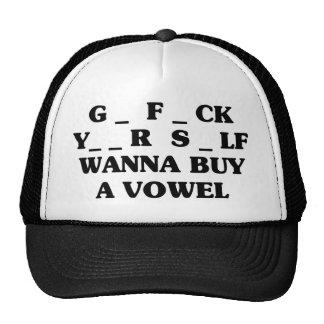 Quiera comprar una vocal gorro