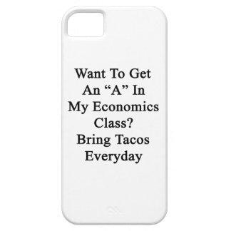 Quiera conseguir una A en mi clase de la economía  iPhone 5 Case-Mate Cobertura