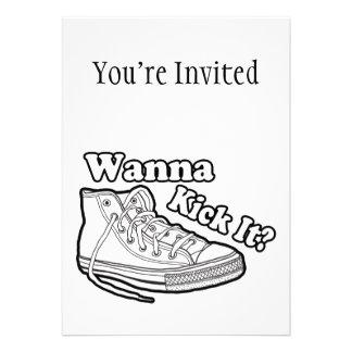 Quiera golpearlo con el pie las zapatillas de depo invitaciones personales