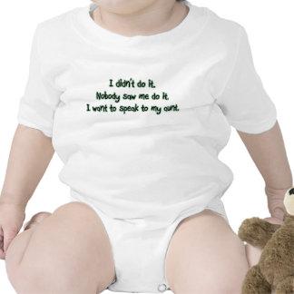 Quiera hablar a mi tía trajes de bebé