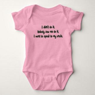 Quiera hablar a mi tío body para bebé