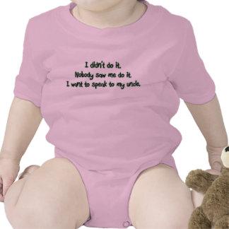Quiera hablar a mi tío trajes de bebé