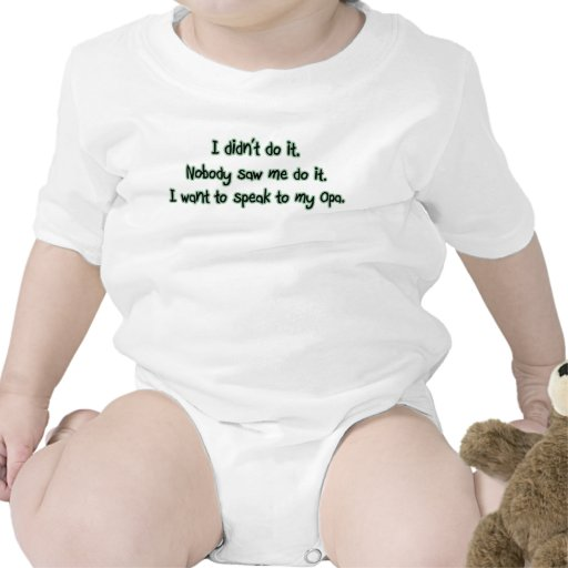 Quiera hablar a Opa Traje De Bebé