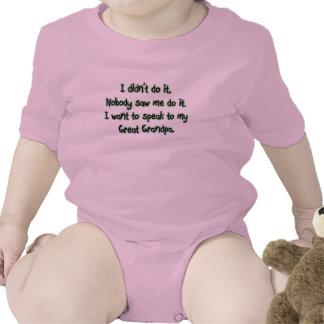 Quiera hablar al gran abuelo traje de bebé