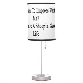 Quiera impresionarme reserva la vida de una oveja
