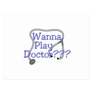¿Quiera jugar a doctores??? Postal