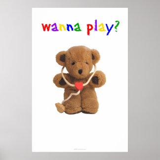 """""""Quiera jugar?"""" Poster"""