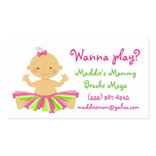 ¿Quiera jugar? Tarjeta del playdate de la mamá par Plantillas De Tarjetas Personales