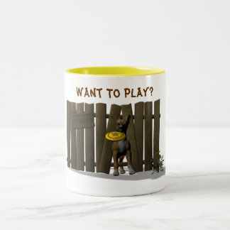 ¿Quiera jugar? Taza De Dos Tonos