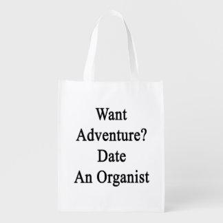 Quiera la fecha de la aventura un organista bolsa de la compra
