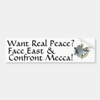 Quiera la paz real de Oriente Medio Etiqueta De Parachoque
