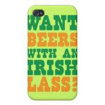 ¿Quiera las cervezas con una MUCHACHA IRLANDESA? D iPhone 4/4S Carcasa