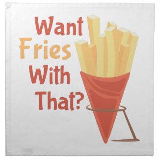 Quiera las fritadas servilleta de papel