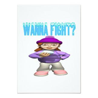 Quiera luchar invitación 12,7 x 17,8 cm
