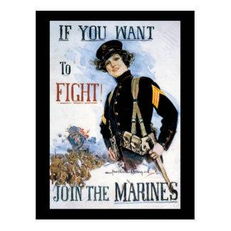 Quiera luchar la guerra mundial 2 tarjetas postales