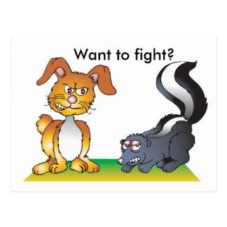 ¿Quiera luchar? Postales