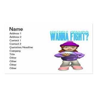Quiera luchar tarjetas de visita