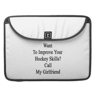 Quiera mejorar sus habilidades del hockey llaman fundas macbook pro
