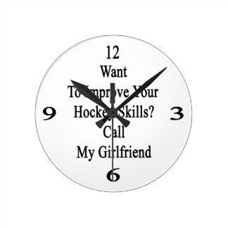 Quiera mejorar sus habilidades del hockey llaman reloj redondo mediano