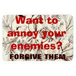 ¿Quiera molestar a sus enemigos? Diseño del texto  Iman Rectangular