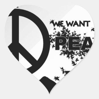 Quiera Peace.jpg Pegatina En Forma De Corazón