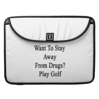 Quiera permanecer lejos de golf del juego de las fundas macbook pro