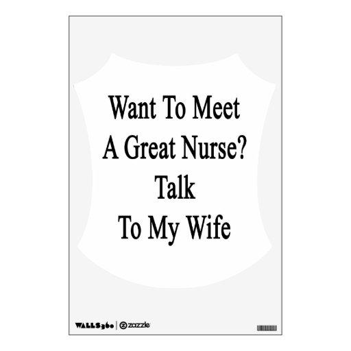 Quiera resolver una gran charla de la enfermera a