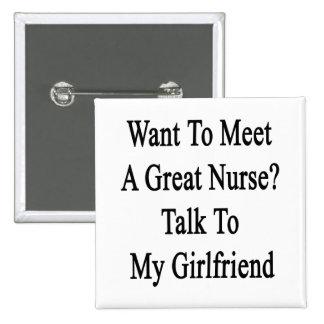 Quiera resolver una gran charla de la enfermera a  pin