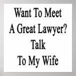 Quiera resolver una gran charla del abogado a mi e impresiones