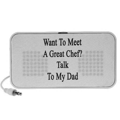 Quiera resolver una gran charla del cocinero a mi  mp3 altavoz