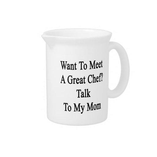 Quiera resolver una gran charla del cocinero a mi  jarras para bebida