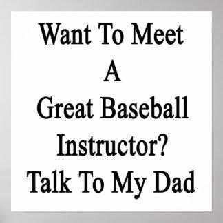Quiera resolver una gran charla del instructor del impresiones