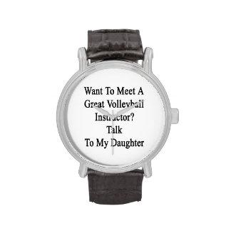 Quiera resolver una gran charla del instructor del relojes