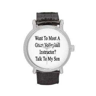 Quiera resolver una gran charla del instructor del relojes de mano