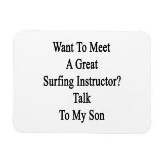 Quiera resolver una gran charla del instructor que imán
