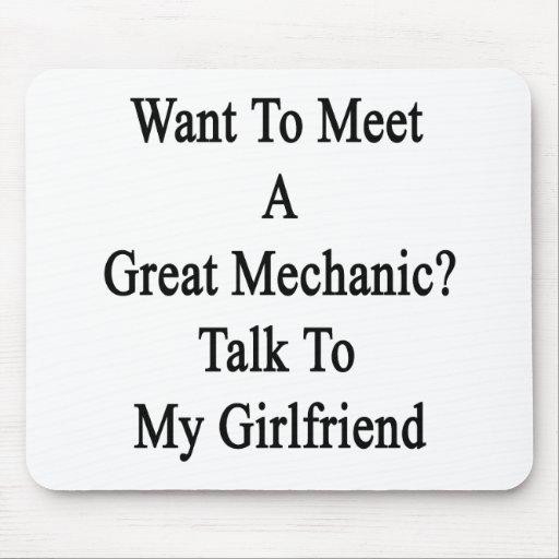 Quiera resolver una gran charla del mecánico a mi  alfombrilla de ratón
