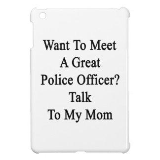 Quiera resolver una gran charla del oficial de pol