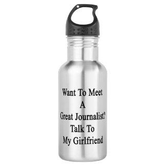 Quiera resolver una gran charla del periodista a