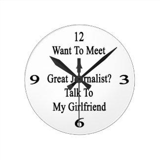 Quiera resolver una gran charla del periodista a m reloj redondo mediano